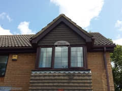 UPVC bargeboards in woodgrain
