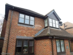 Rosewood fascias and soffits square guttering