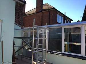 Conservatory roof completed removed and the new Equinox ring beam installed