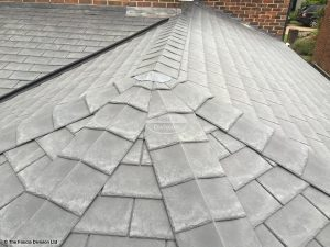 Equinox composite slate tiles on a conservatory