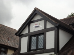 UPVC deep round guttering upvc black ash fascias and soffits Fareham