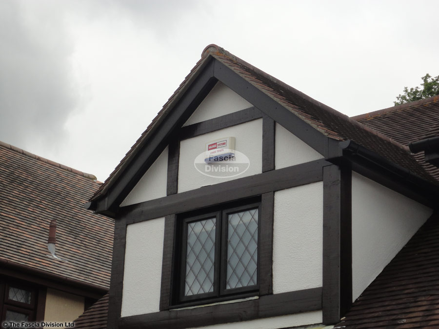 Upvc Deep Round Guttering Upvc Black Ash Fascias And