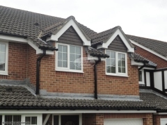 Black square guttering upvc fascia and soffit installation in Waterlooville