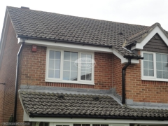 black square guttering white upvc fascia and soffit installation in Waterlooville