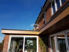 Replace flat roof fascias and soffits Widley Waterlooville