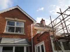 White soffit and decorative fascia with white deep flow guttering Purbrook, Waterlooville