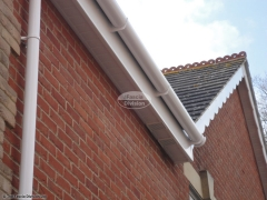 White soffit and fascia, white deep flow guttering, Purbrook, Waterlooville