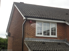 white upvc bargeboards fascia and soffit installation in Waterlooville