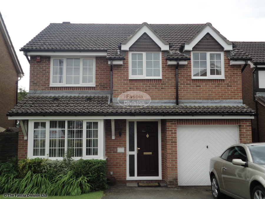 White upvc fascia and soffit installation in Waterlooville