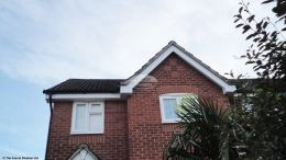 Recent work soffits fascia boards guttering white black halfround downpipe Havant