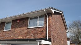 White fascia guttering replacement portsmouth recent work rooftrim tongue and groove soffit