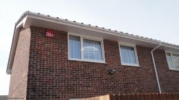 fascia replacement portsmouth new soffits white half round guttering