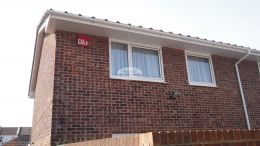 white soffit fascia guttering recent full replacement portsmouth white guttering