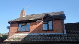 New rosewood Upvc Fascias Soffits And Guttering On A Detached Property in Waterlooville