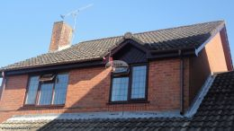 Upvc rosewood fascia boards soffits brown guttering Waterlooville
