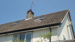 Full replacement service UPVC black ash fascias and soffits in a white tongue and groove effect West Meon Petersfield