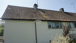 Replacing fascias in black ash soffits in a white tongue and groove effect West Meon Petersfield