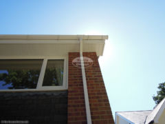 White UPVC soffit, fascia and guttering