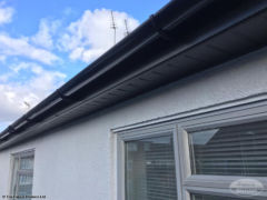 Fascia, soffit and guttering installation on mid terrace house in Cosham