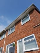 White UPVC fascia, soffits and guttering Waterlooville