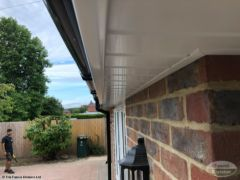 White UPVC tongue and groove soffit