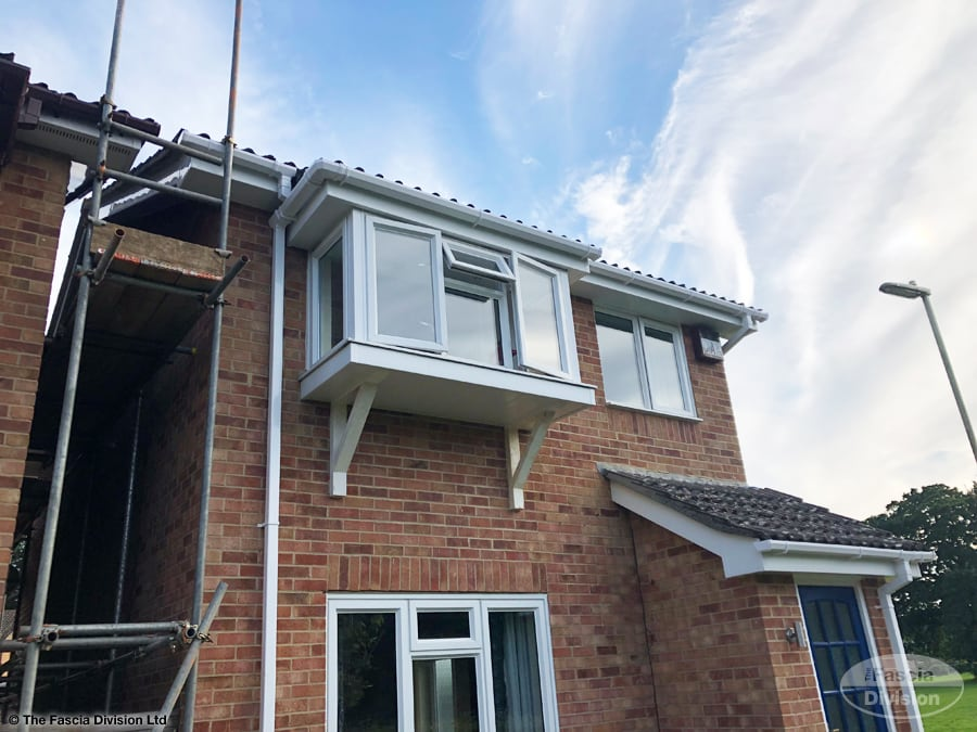 White fascias and soffits installation