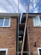 Replace fascias and guttering with scaffolding